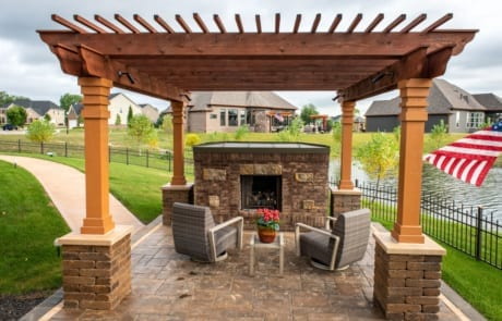 the owl outdoor fire place