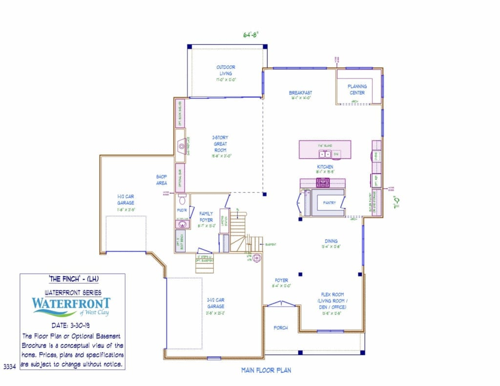 Finch Model First Floor Layout