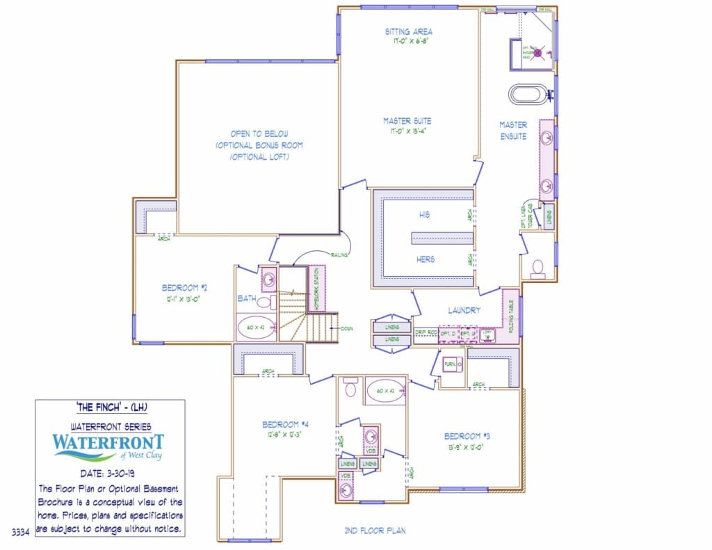 Finch Second Floor Layout