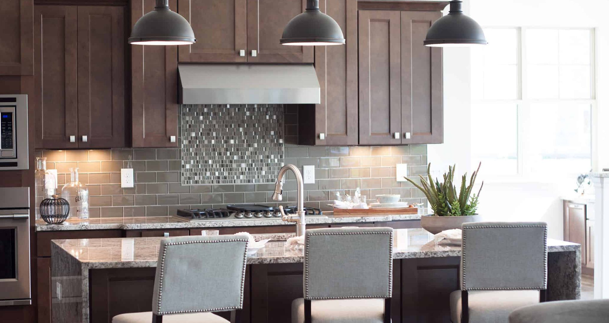 Customized Kitchen with Custom Home Builder Waterfront of West Clay