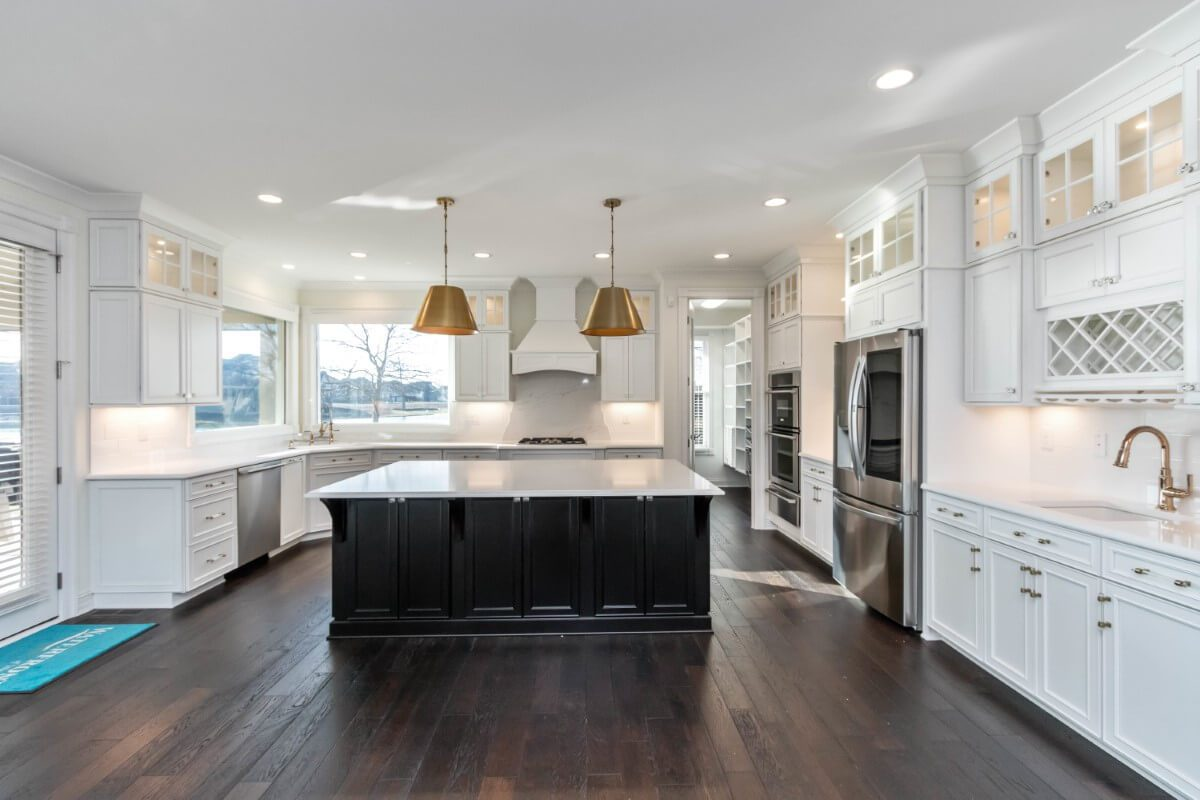 kitchen with wine storage and double dutch oven