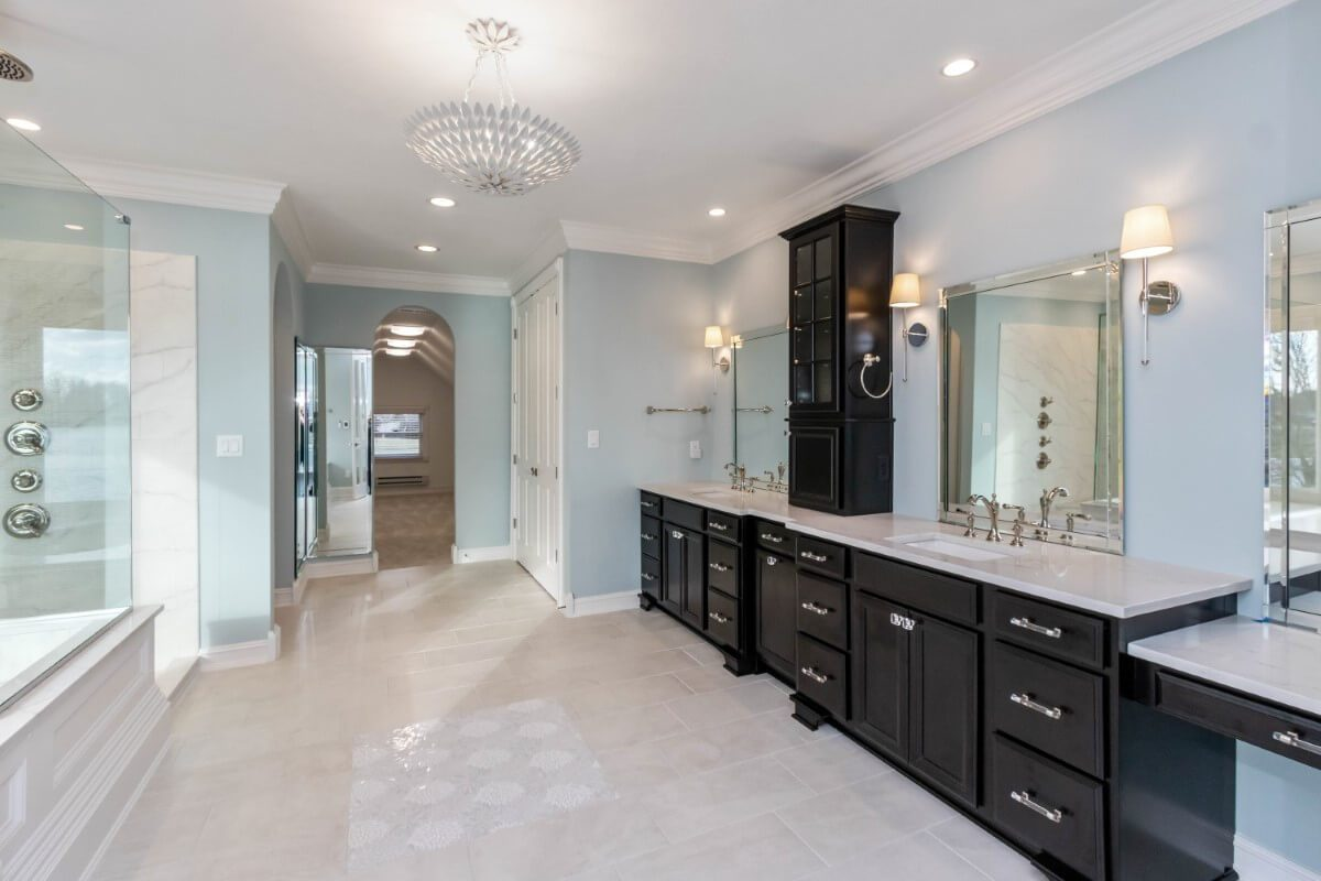 master bathroom with plenty of space to relax